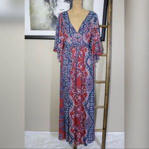 Free People Fern Print Maxi Dress